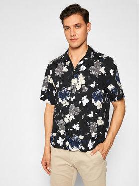 Calvin Klein Calvin Klein Риза Sleeve Flower Print K10K106882 Черен Regular Fit