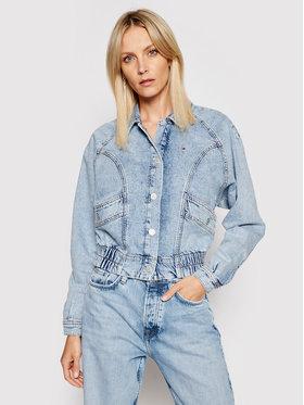 Tommy Jeans Tommy Jeans Kurtka jeansowa Cargo Crop Tjllbc DW0DW10072 Niebieski Regular Fit