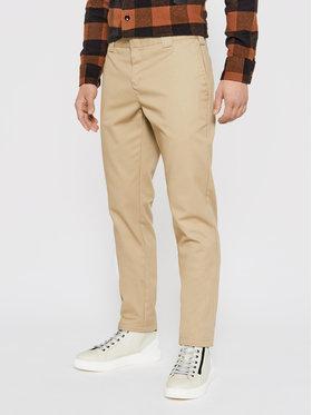 Dickies Dickies Spodnie materiałowe Work DK0WE872 Beżowy Slim Fit