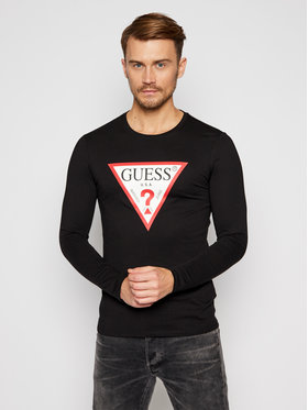 Guess Guess S dlhými rukávmi M0BI31 I3Z11 Čierna Slim Fit