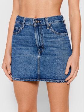 Levi's® Levi's® Džínsová sukňa Micro A0986 Modrá Regular Fit