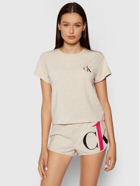 Calvin Klein Underwear Calvin Klein Underwear Pižama 000QS6443E Smėlio