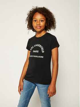 KARL LAGERFELD KARL LAGERFELD T-Shirt Z15259 S Czarny Regular Fit