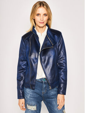 Desigual Desigual Veste en cuir Broward 20SWEW13 Bleu marine Regular Fit
