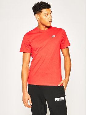 Nike Nike T-shirt Sportswear Club AR4997 Rouge Regular Fit