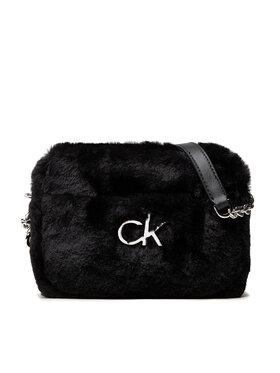 Calvin Klein Calvin Klein Дамска чанта Re-Lock Camera Bag Fur K60K608590 Черен