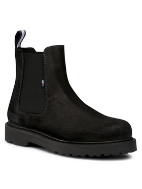Tommy Jeans Tommy Jeans Chelsea Suede Chelsea Boot EM0EM00544 Nero