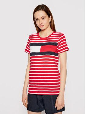 Tommy Hilfiger Tommy Hilfiger T-shirt Abo Flag WW0WW32439 Rosso Regular Fit