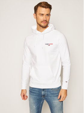 Tommy Jeans Tommy Jeans Суитшърт Tommy Chest Graphic DM0DM08730 Бял Regular Fit