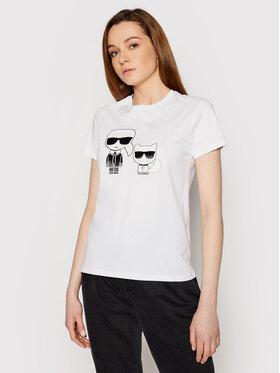 KARL LAGERFELD KARL LAGERFELD T-shirt Ikonik & Choupette 210W1724 Blanc Regular Fit