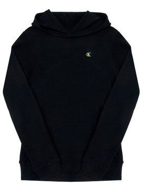Calvin Klein Jeans Calvin Klein Jeans Džemperis Logo Sleeve IB0IB00541 Juoda Regular Fit