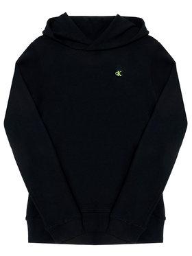 Calvin Klein Jeans Calvin Klein Jeans Mikina Logo Sleeve IB0IB00541 Černá Regular Fit