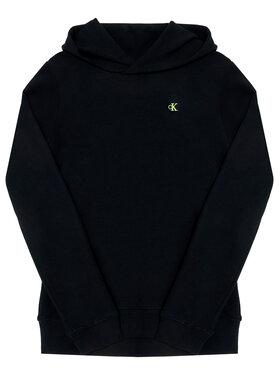 Calvin Klein Jeans Calvin Klein Jeans Pulóver Logo Sleeve IB0IB00541 Fekete Regular Fit