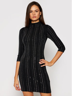 Liu Jo Liu Jo Плетена рокля MF0117 MA49I Черен Slim Fit