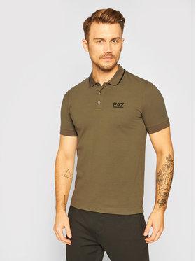 EA7 Emporio Armani EA7 Emporio Armani Polo marškinėliai 8NPF06 PJ04Z 1867 Žalia Regular Fit