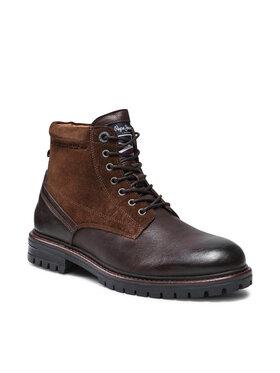 Pepe Jeans Pepe Jeans Turistická obuv Ned Boot Comb Warm PMS50214 Hnědá