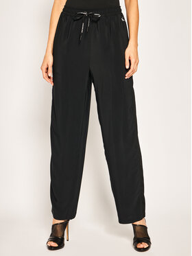 Calvin Klein Jeans Calvin Klein Jeans Medžiaginės kelnės Straight Drawstring Trousers J20J213520 Regular Fit