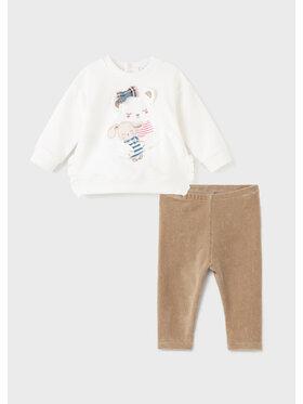 Mayoral Mayoral Ensemble blouse et pantalon 2718 Blanc Regular Fit