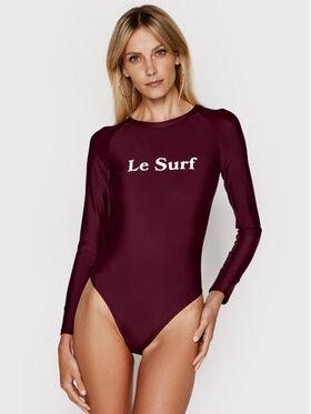 Drivemebikini Drivemebikini Strój kąpielowy Le Surf 2021-DRV-049_WI Bordowy