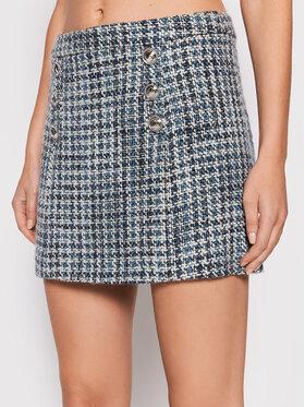 Guess Guess Trapézová sukňa Christy W1BD33 WE660 Modrá Slim Fit