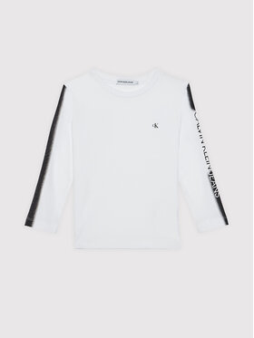 Calvin Klein Jeans Calvin Klein Jeans Bluzka Institutional Spray IB0IB00896 Biały Regular Fit