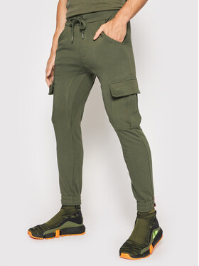 Alpha Industries Alpha Industries Pantaloni trening Terry Jogger 116204 Verde Regular Fit