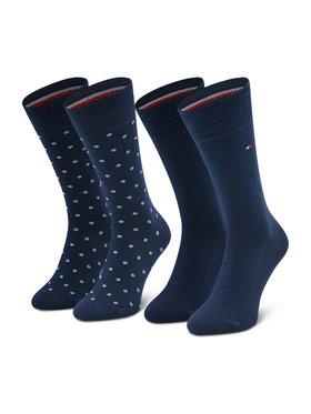 Tommy Hilfiger Tommy Hilfiger Комплект 2 чифта дълги чорапи мъжки 100002654 Тъмносин