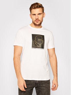 KARL LAGERFELD KARL LAGERFELD T-Shirt Crewneck 755039 502224 Bílá Regular Fit