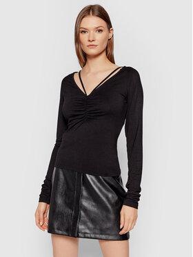 NA-KD NA-KD Блуза 1100-004244-0002-003 Черен Slim Fit