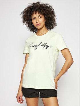Tommy Hilfiger Tommy Hilfiger T-Shirt Crew Neck Graphic Tee WW0WW28682 Żółty Regular Fit