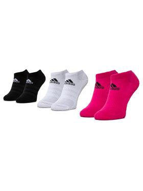 adidas adidas Σετ 3 ζευγάρια κοντές κάλτσες γυναικείες Cush Low 3PP DZ9386 Λευκό