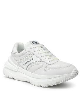 Calvin Klein Jeans Calvin Klein Jeans Sneakersy Runner Laceup Sneaker Snap YM0YM001980 Biały