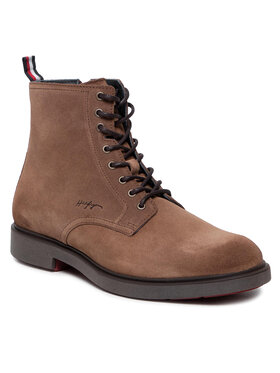 Tommy Hilfiger Tommy Hilfiger Ботуши Elevated Rounded Suede FM0FM03794 Кафяв