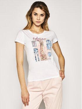 Liu Jo Liu Jo T-shirt FA0392 J5940 Bijela Slim Fit