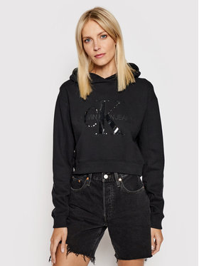 Calvin Klein Jeans Calvin Klein Jeans Mikina J20J216346 Čierna Regular Fit