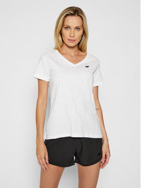 4F 4F T-shirt NOSH4-TSD002 Bianco Regular Fit