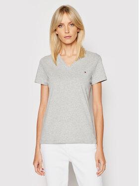 Tommy Hilfiger Tommy Hilfiger T-Shirt Heri Tage WW0WW24969 Grau Regular Fit