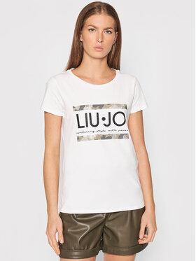 Liu Jo Sport Liu Jo Sport T-Shirt TF1219 J5972 Biały Regular Fit