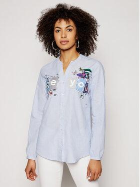 Desigual Desigual Marškiniai Beyou 21SWCW24 Mėlyna Loose Fit