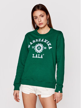 PLNY LALA PLNY LALA Sweatshirt Warszawska Lala PL-BL-RG-00057 Vert Regular Fit