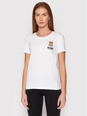 MOSCHINO Underwear & Swim MOSCHINO Underwear & Swim T-Shirt 1912 9003 Biały Regular Fit