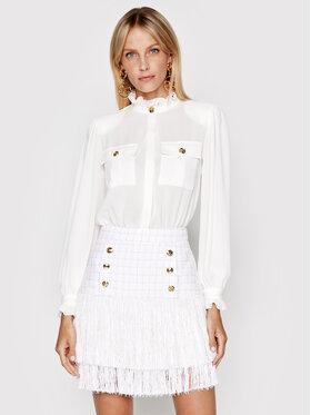 Elisabetta Franchi Elisabetta Franchi Коктейлна рокля AB-148-13E2-V680 Бял Regular Fit