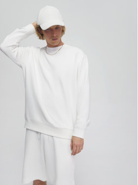 Sprandi Sprandi Суитшърт AW21-BLM008 Бял Regular Fit