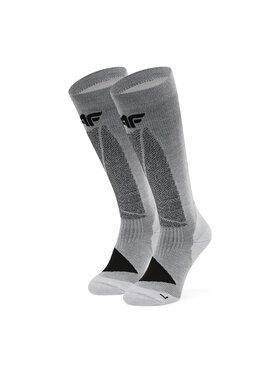 4F 4F Високі чоловічі шкарпетки H4Z20-SOMN003 Сірий