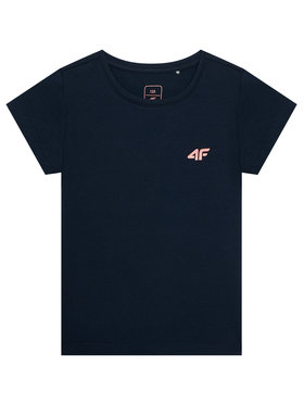 4F 4F T-Shirt HJL21-JTSD008A Granatowy Regular Fit