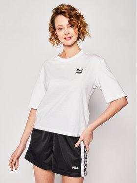 Puma Puma T-shirt Tfs Graphic Tee 596259 Blanc Regular Fit