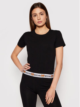 MOSCHINO Underwear & Swim MOSCHINO Underwear & Swim T-shirt ZUA1908 9003 Nero Regular Fit