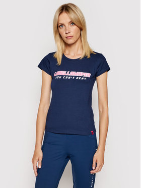 LaBellaMafia LaBellaMafia T-Shirt 20506 Tmavomodrá Slim Fit