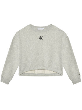 Calvin Klein Jeans Calvin Klein Jeans Bluză Logo IG0IG00934 Gri Boxy Fit