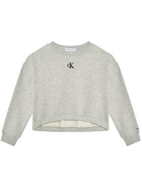 Calvin Klein Jeans Calvin Klein Jeans Džemperis Logo IG0IG00934 Pilka Boxy Fit